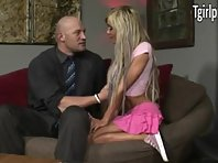 Skinny busty baby-sitter Kimber James gets her anus pounded
