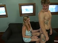 Morgan Bailey seduces man and rides him