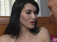 Tgirl prostitute Eva Lin loves to draw down clients penis and assfuck