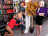 Office shemale porn
