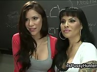 Tranny and her classmate fuck on desk
