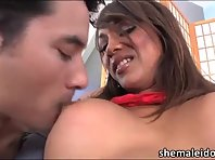 Very Tgirl Yasmin Lee in hardcore bareback sexual intercourse and sperm jizzed