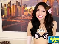 Pretty ladyboy Lexi Barbie solo action
