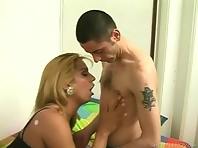 Horny shemale with big tits