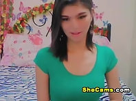 Asian College Shemale Gets Slutty on Cam