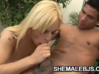 Shemale Thays Schiavinato requires hold of a difficult cock
