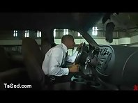 Ts Foxxy connections up taxi driver to wood restraints