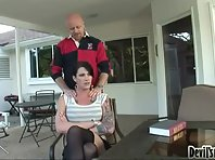 Morgan Bailey Providing Public Blowjob