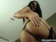 Oriental ladyboy Fanta strips off and does a steamy masturbation