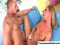Ts Aubrey Kate becomes her asshole pumped